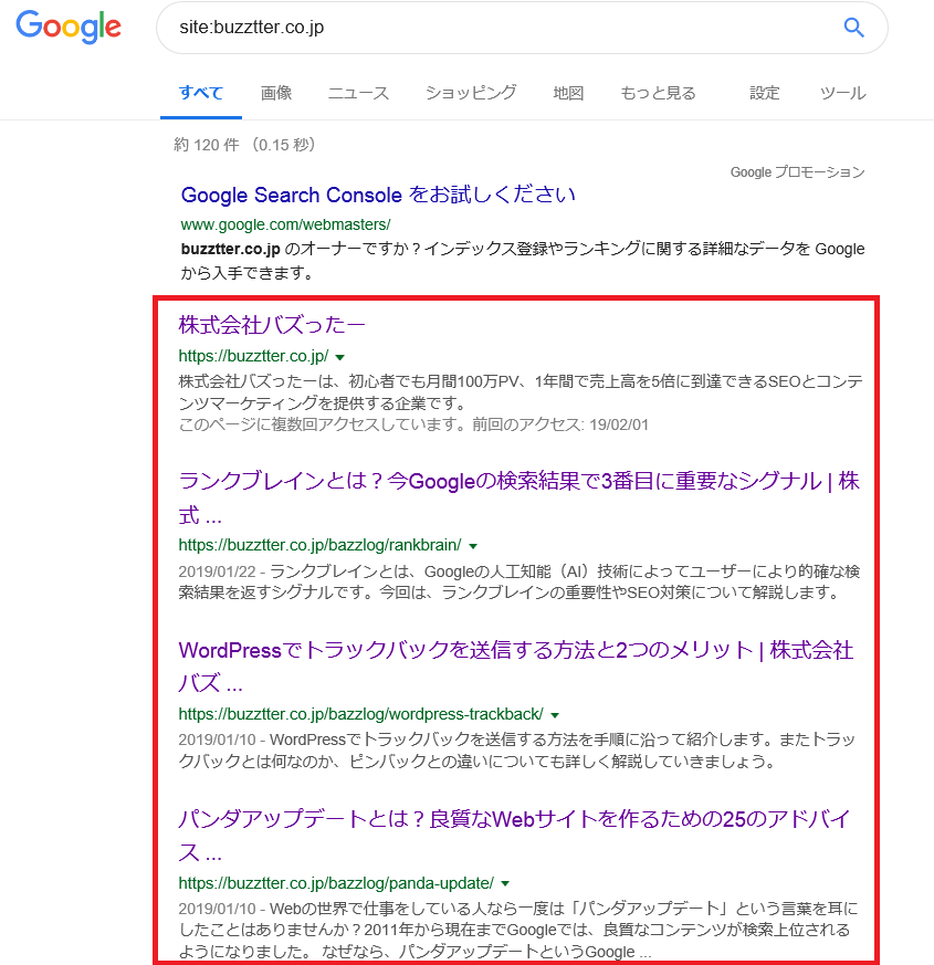 Google インデックス 確認-7