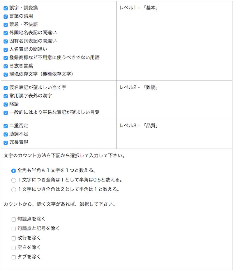 日本語文章校正サポート カスタマイズ